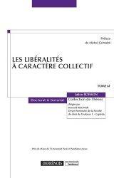 Dernières parutions sur Successions et libéralités, Les libéralités à caractère collectif