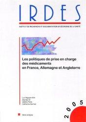 Dernières parutions dans Biblio, Les politiques de prise en charge des médicaments en France, Allemagne et Angleterre