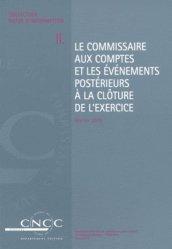 Dernières parutions sur Commissariat aux comptes, Le commissaire aux comptes et les événements postérieurs à la clôture de l'exercice
