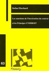 Dernières parutions dans Cedidac, Les sanctions de l'inexécution du contrat et les Principes UNIDROIT