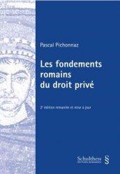Dernières parutions sur Histoire du droit, Les fondements romains du droit privé