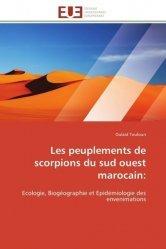 Dernières parutions sur Arachnides, Les peuplements de scorpions du sud ouest marocain