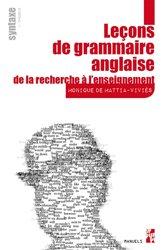 Dernières parutions sur Outils d'apprentissage, Leçons de grammaire anglaise : de la recherche à l'enseignement