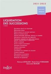 Dernières parutions dans Dalloz référence, Liquidation des successions