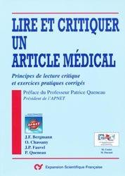 Souvent acheté avec Apprendre la lecture critique d'un article médical, le Lire et critiquer un article médical