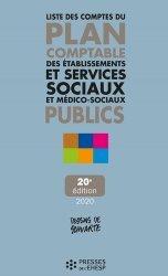 Dernières parutions sur Organisation et gestion du secteur social, Liste des comptes du plan comptable des établissements et services sociaux et médico-sociaux publics