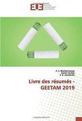 Dernières parutions sur Sciences des matériaux, Livre des résumés - GEETAM 2019