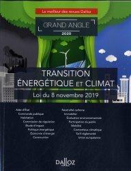 Dernières parutions dans Dalloz Grand angle, Loi énergie et climat. Edition 2020