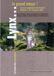 Dernières parutions dans Patrimoines naturels, Lynx...le grand retour ?