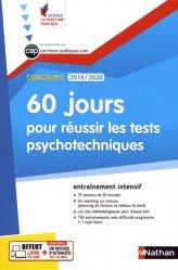 Dernières parutions dans Intégrer la fonction publique, 60 jours pour réussir les tests psychotechniques. Concours catégories B et C, Edition 2019-2020
