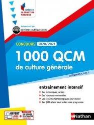 Dernières parutions dans Intégrer la fonction publique, 1000 QCM culture générale concours catégories A, B et C 2020