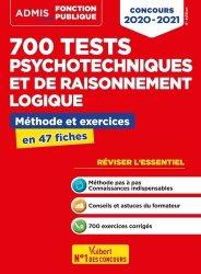Dernières parutions dans Admis concours de la fonction publique, 700 tests psychotechniques et de raisonnement logique. Méthode et exercices en 47 fiches, 6e édition