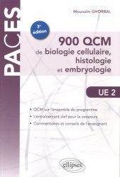 Souvent acheté avec Histologie UE2, le 900 QCM de biologie cellulaire, histologie et embryologie UE2