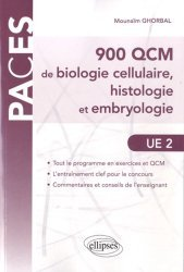 Souvent acheté avec La chimie de l'UE1, le 900 QCM de biologie cellulaire, histologie embryologie UE2