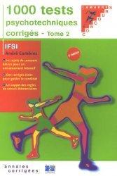 Souvent acheté avec Épreuve orale  Entrée en IFSI, le 1000 tests psychotechniques corrigés Tome 2