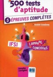 Dernières parutions dans Lamarre concours, 500 tests d'aptitude