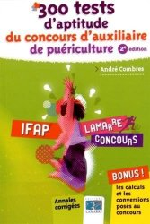 Dernières parutions dans Lamarre concours, 300 tests d'aptitude du concours auxiliaire de puériculture