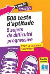Dernières parutions sur Tests d'aptitude, 500 tests d'aptitude