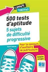Dernières parutions sur Epreuve écrite, 500 tests du concours d'AP