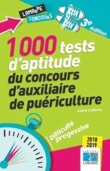 Dernières parutions dans Lamarre Concours, 1000 tests d'aptitude du concours d'auxiliaire de puériculture 2018-2019