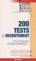 Dernières parutions dans Guides J Emploi, 200 tests de recrutement. 4e édition
