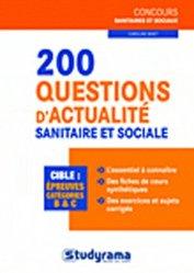 Souvent acheté avec Annales corrigées IFSI 2011, le 200 questions d'actualité sanitaire et sociale