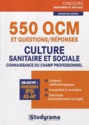 Souvent acheté avec Entraînement intensif aux tests d'aptitude IFSI, le 550 QCM et questions/réponses - Culture sanitaire et sociale / connaissance du champ professionnel