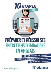 Dernières parutions sur Entretiens, 10 étapes pour préparer et réussir ses entretiens d'embauche en anglais