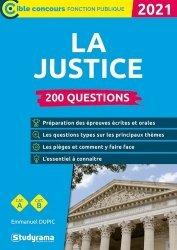 Dernières parutions dans Concours fonction publique, 200 questions sur la justice