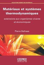 Dernières parutions sur Thermodynamique, Matériaux et systèmes thermodynamiques