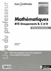 Dernières parutions sur BTS - DUT - IUT, Mathématiques BTS Groupements B, C et D - Livre du professeur