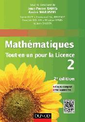 Souvent acheté avec Mathématiques Exercices incontournables BCPST 1, le Mathématiques Tout-en-un pour la Licence 2