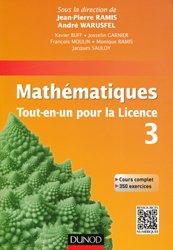Souvent acheté avec Mathématiques Méthodes et Exercices MP, le Mathématiques Tout-en-un pour la Licence 3