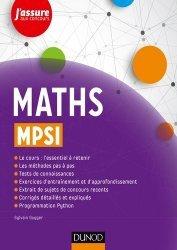 Dernières parutions dans J'assure aux concours, Maths MPSI