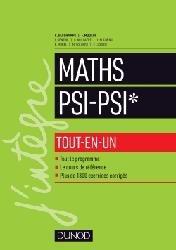 Dernières parutions sur 2ème année, Mathématiques tout-en-un PSI / PSI*