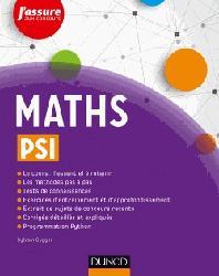 Dernières parutions dans J'assure aux concours, Maths PSI
