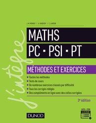 Dernières parutions sur 2ème année, Mathématiques Méthodes et Exercices PC-PSI-PT