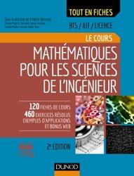 Dernières parutions sur Maths pour l'ingénieur, Mathématiques pour les sciences de l'ingénieur
