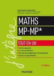 Dernières parutions dans J'intègre, Mathématiques MP-MP* tout-en-un