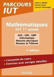 Dernières parutions dans Parcours IUT, Mathématiques IUT 1re année