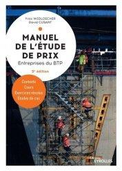 Dernières parutions sur Bâtiment, Manuel de l'étude de prix pour les entreprises du BTP