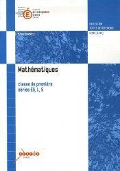 Nouvelle édition Mathématiques 1e ES, L, S