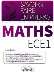 Dernières parutions dans Savoir et faire en prépas, Mathématiques ECE1