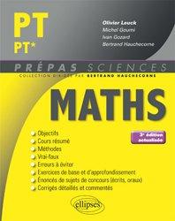 Dernières parutions dans Prépas sciences, Maths PT PT*