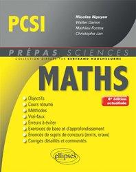 Dernières parutions dans Prépas sciences, Mathématiques PCSI