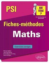 Dernières parutions sur Maths pour la prépa, Maths PSI