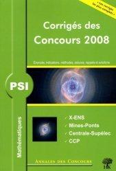Dernières parutions dans Annales des concours, Mathématiques PSI