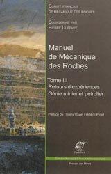 Dernières parutions dans Sciences de la terre et de l'environnement, Manuel de Mécanique des Roches Tome III