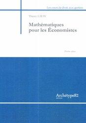 Dernières parutions sur Maths pour l'économie, la gestion et la finance, Mathématiques pour les économistes
