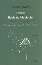 Dernières parutions sur Ecologie - Environnement, Manifeste pour une école de l'écologie